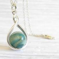 Ash Marble Pendent